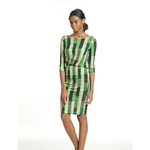 Tracy Reese Green Back Wrap Chemise Dress